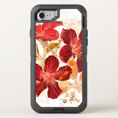 Hibiscus flower - watercolor paint 2 Phone Case