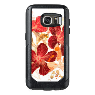 Hibiscus flower - watercolor paint 2 OtterBox samsung galaxy s7 case