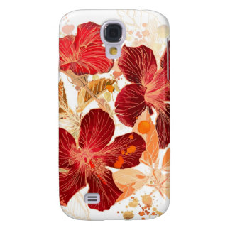 Hibiscus flower - watercolor paint 2 samsung galaxy s4 cover