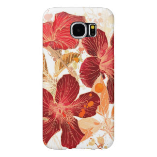 Hibiscus flower - watercolor paint 2 samsung galaxy s6 cases