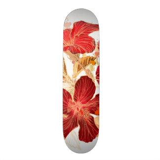 Hibiscus flower - watercolor paint 2 skateboard deck