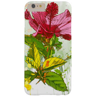 Hibiscus flower - watercolor paint barely there iPhone 6 plus case