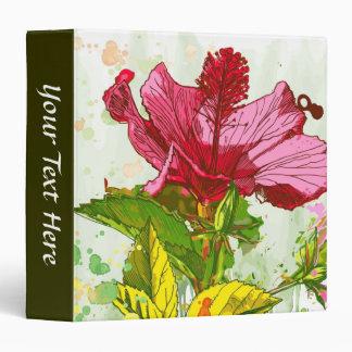 Hibiscus flower - watercolor paint binder