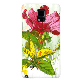 Hibiscus flower - watercolor paint galaxy note 4 case