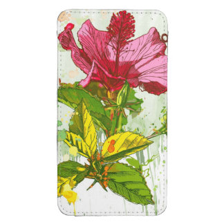 Hibiscus flower - watercolor paint galaxy s4 pouch