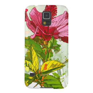 Hibiscus flower - watercolor paint galaxy s5 cover