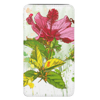 Hibiscus flower - watercolor paint galaxy s5 pouch