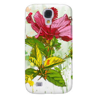Hibiscus flower - watercolor paint samsung galaxy s4 case