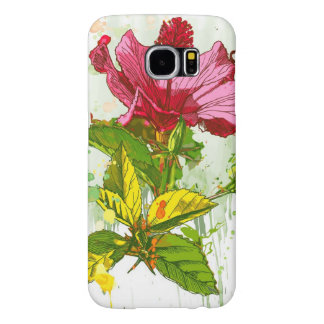 Hibiscus flower - watercolor paint samsung galaxy s6 cases