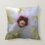 hibiscus flower white yellow center picture pillows