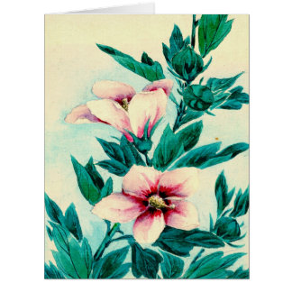 Hibiscus Flowers 1870 Card