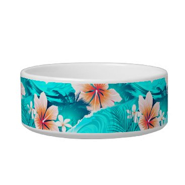 Beach Themed Hibiscus flowers at the beach bowl