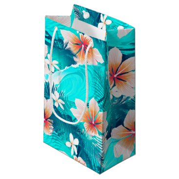 Hibiscus flowers at the beach small gift bag