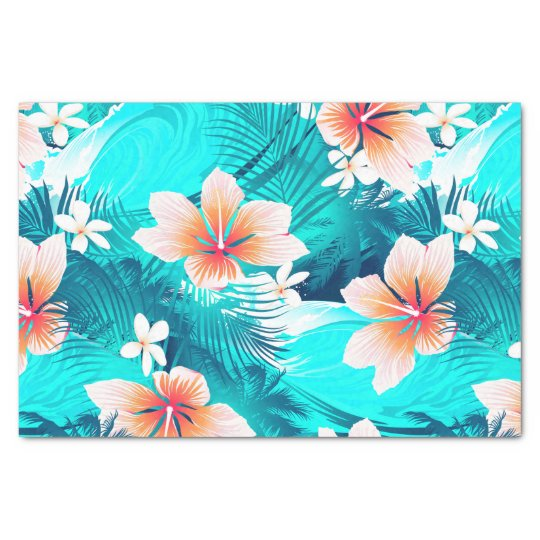 Hibiscus Flowers At The Beach Tissue Paper