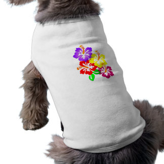 HIBISCUS FLOWERS COLORFUL CORNER VECTOR GRAPHICS L T-Shirt