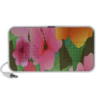 Hibiscus flowers design notebook speakers