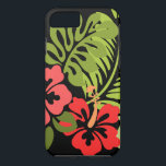 "Hibiscus Flowers iPhone 8/7 Case<br><div class=""desc"">This design has pink hibiscus flowers and green leaves.</div>"