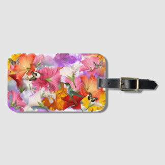 Hibiscus Flowers Luggage Tag