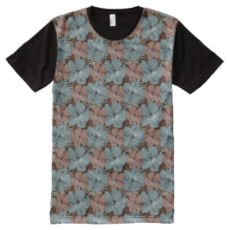 Hibiscus Flowers Neutral Colors All-Over-Print Shirt
