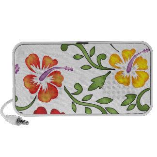 Hibiscus flowers ornament iPod speaker