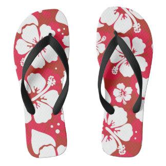 Hibiscus Flowers Pattern Flip Flops