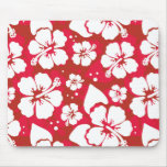 Hibiscus Flowers Pattern Mousepads