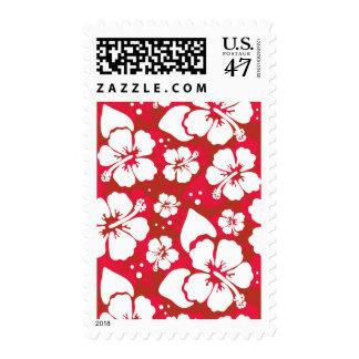Hibiscus Flowers Pattern Postage