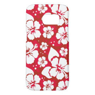 Hibiscus Flowers Pattern Samsung Galaxy S7 Case