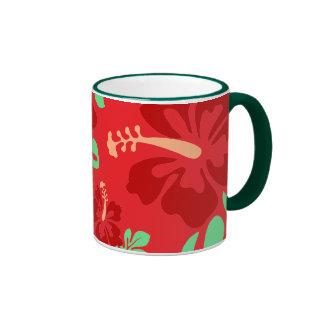 Hibiscus Flowers Ringer Mug