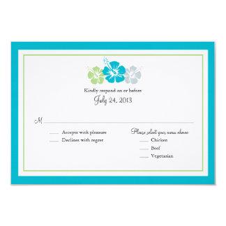 Hibiscus Flowers RSVP Card