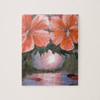 Hibiscus Flowers - Vase Jigsaw Puzzles