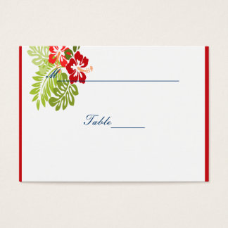 Hibiscus Flowers Wedding Business Card