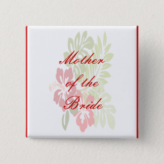 Hibiscus Flowers Wedding Button