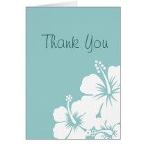 Hibiscus Flowers Wedding Card