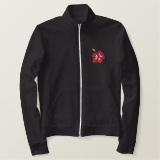 Hibiscus flowers women's embroidered jacket