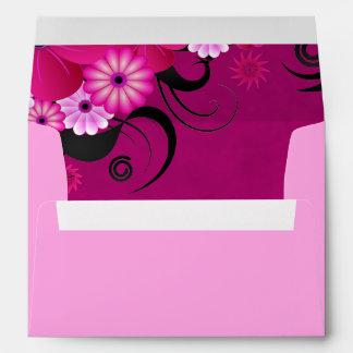 Hibiscus Fuchsia Floral Elegant Custom Envelopes Envelopes