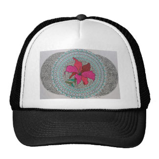 Hibiscus fusion trucker hat