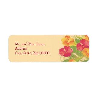 hibiscus garden ~ mailing label