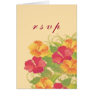 hibiscus garden ~ rsvp card