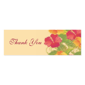 hibiscus garden ~ thank you gift tag business cards