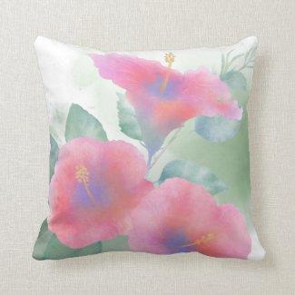 Hibiscus Garden Throw Pillow