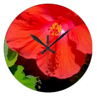 Hibiscus glory wall clock