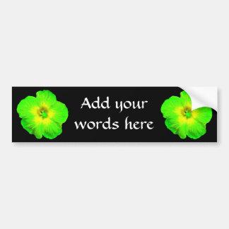 "Hibiscus: Green & Yellow ""Ultraviolet Glow"" Bumper Sticker"