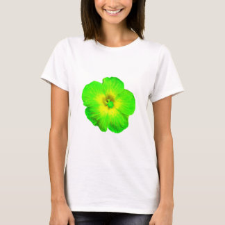"Hibiscus: Green & Yellow ""Ultraviolet Glow"" T-Shirt"