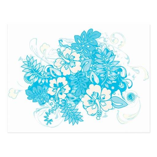 Hibiscus_Growth Tarjeta Postal