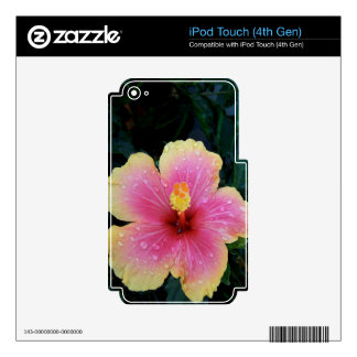 Hibiscus Hawaiian Flower Decals For iPod Touch 4G