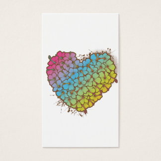 Hibiscus heart business card