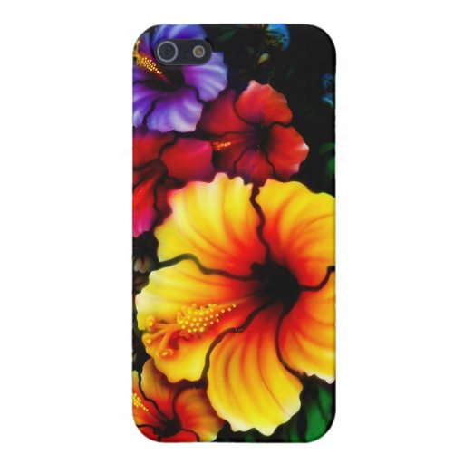 Hibiscus Heaven Cases For iPhone 5