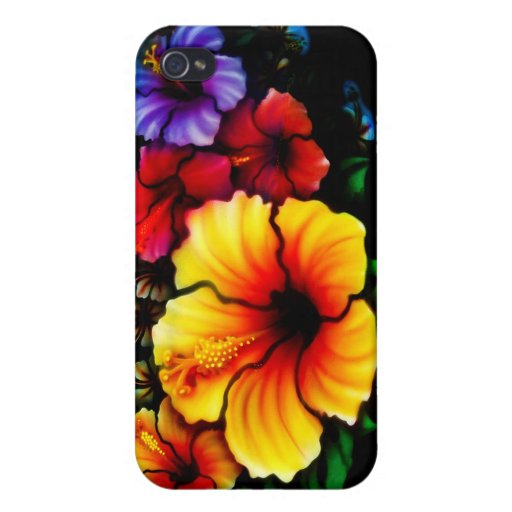 Hibiscus Heaven iPhone 4 Covers