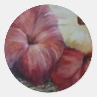 hibiscus II Round Sticker